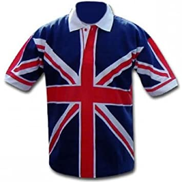 England Rugby Union Jack - Polo, Unisex Adulto, Red, White & Blue ...