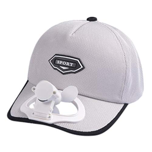 GOVOW Golf Hat Camping Hiking Peaked Cap with Solar Powered Fan Baseball Hat Cooling Fan Cap ...