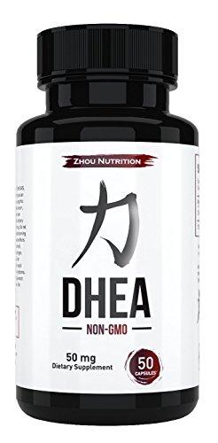 DHEA 50 мг дополнение для содействия сбалансированному гормонов для мужчин & женщин - восстановление пиковые уровни DHEA чтобы выглядеть & чувствовать себя моложе - не ГМО формула - сделано в США - процедуру полного потенции & чистоты