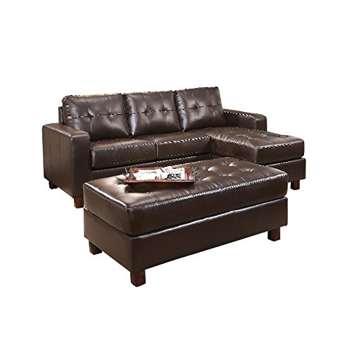 Leather sectionals l shaped couches for Ashley lucia sofa chaise