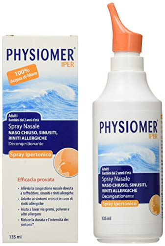 Physiomer Iper Siero di Mare Spray Nasale Ipertonico Decongestionante Adatto per Adulti e Bambini che Libera la… 1