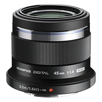 Olympus M. Zuiko Digital ED 45mm f1.8 (Black) Lens for Micro 4/3 Cameras - International Version (No Warranty)