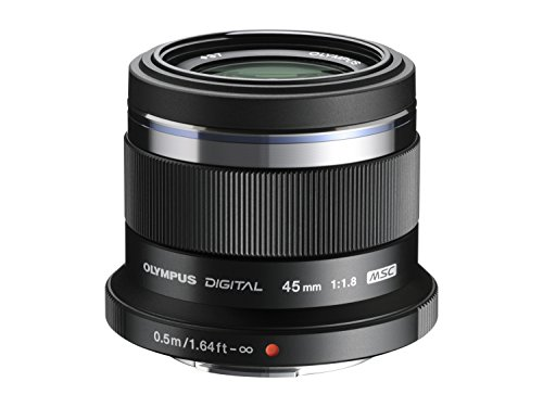 Olympus M. Zuiko Digital ED 45mm f1.8 (Black) Lens for Micro 4/3 Cameras - International Version (No Warranty)