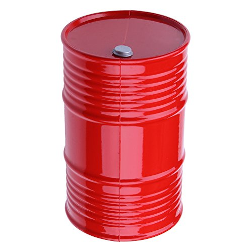 Hobbypark 1:10 RC Rock Crawler Decorative Accessories Plastic Oil Drum Container for Axial SCX10 Traxxas Trx-4 Trx4 Redcat Everest Gen7 Pro TAMIYA CC01 RC4WD D90 D110 TF2 Truck Car Decor Parts