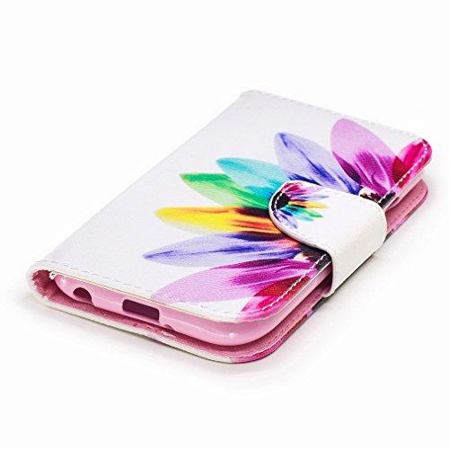 Yiizy LG K3 (2017) Custodia Cover, Petalo Design Sottile Flip Portafoglio PU Pelle Cuoio Copertura Shell Case Slot Schede Cavalletto Stile Libro Bumper Protettivo Borsa