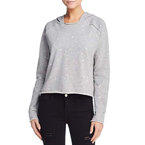 Generation Love Womens Long Sleeves Acid Wash Sweatshirt Gray M