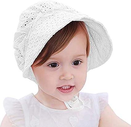 Rosa Xrten Berretto di Pizzo per Bambini,Lovely Cappello da Sole Ragazza Cappello del Bambino Nuovo Pizzo Floreale Bambina Berretto