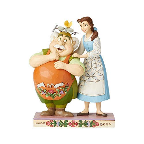 Enesco Disney Traditions by Jim Shore Belle and Maurice The Inventor (Jim Shore Disney Belle)