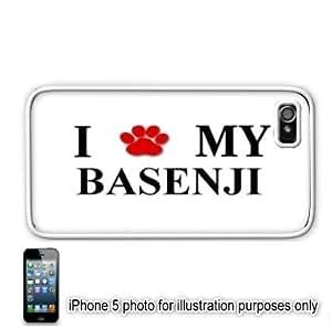 Basenji Paw Dog Apple iPhone 5 Hard Back Case Cover Skin White
