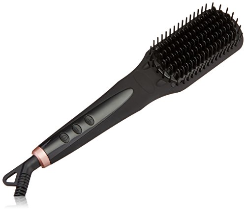 amika Polished Perfection Straightening Brush, Black, 2 lb.