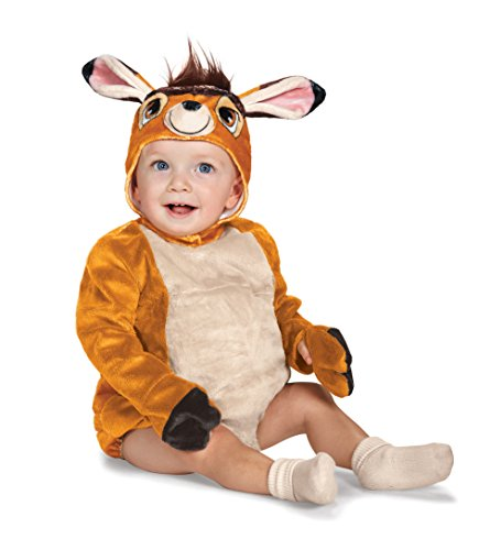 Disguise Baby Bambi Deluxe Infant Costume, Brown, 12