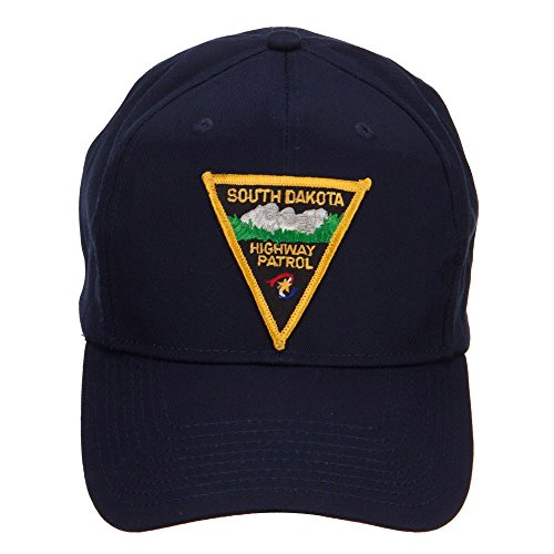 E4hats South Dakota Highway Patrol Patched Cap - Navy (Highway Patrol Hats)