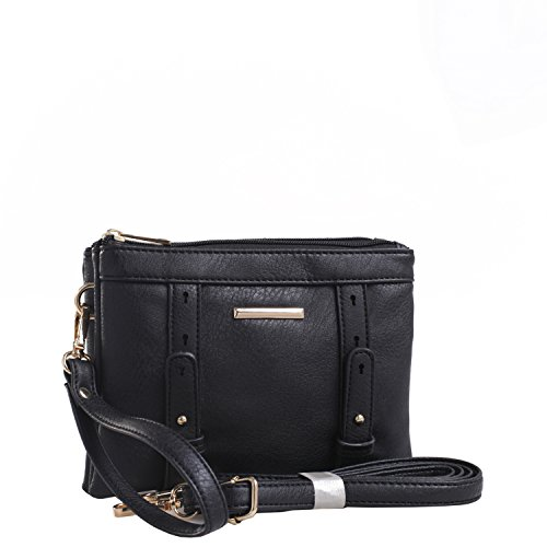 Mkf Collection By Mia K  Farrow Cara Double Compartment Crossbody