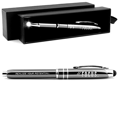 Focus  Motivational Stylus Pen W  Lighted Writing Tip    Realize Your Potential     Inspirational Business Gifts For Men Women Professionals
