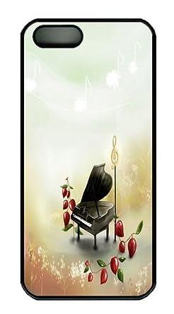 Amazon.com: Aesthetic Cartoon Piano Scene Polycarbonate Hard ...