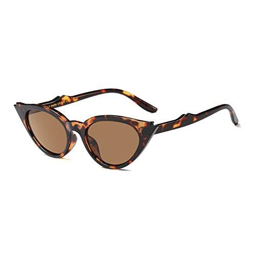 Lente Té de Leopardo Cat Frame para Patrón Oval Vintage mujer Completo Retro Resin Eye Mod Style Sunglasses Inlefen ZXwHqC6F