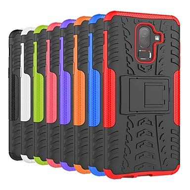 Case for Samsung Galaxy J7 Duo / J7 (2017) Shockproof/with Stand Back Cover Tile/Armor Hard PC for J8 (2018) / J7 (2018) / J6 (2018) (Color : Red, Compatible Models : Galaxy J1 Ace) ()