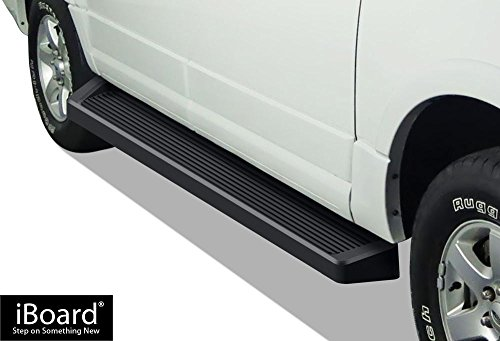 APS iBoard Black Running Boards Style Custom Fit 1997-2017 Ford Expedition Sport Utility 4-Door (Excl. EL Model) (Not Fit Funkmaster Flex Edition) (Nerf Bars | Side Steps | Side Bars) ()