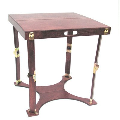 Spiderlegs Mahogany Color Wooden Folding Homework Writing Desk