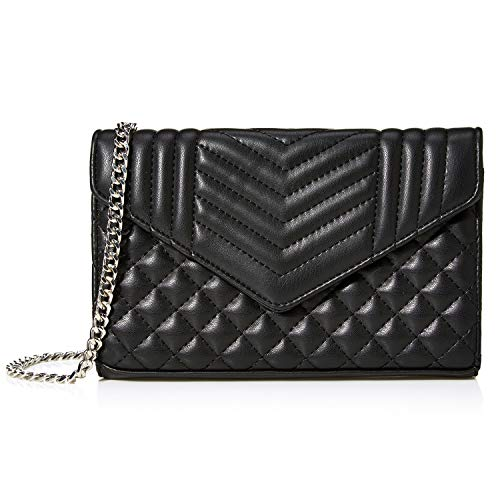 Badiya Simple Small Crossbody Bag Women Quilted Shoulder Purse with Chain Strap