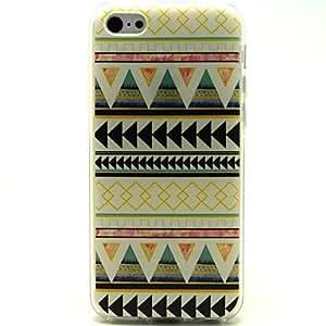 YULIN caso suave patrón de estilo popular de color amarillo claro ultrafino del tpu para 5c iphone