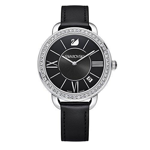 Swarovski Reloj analogico para Mujer de Cuarzo con Correa en Piel 5172151: Amazon.es: Relojes