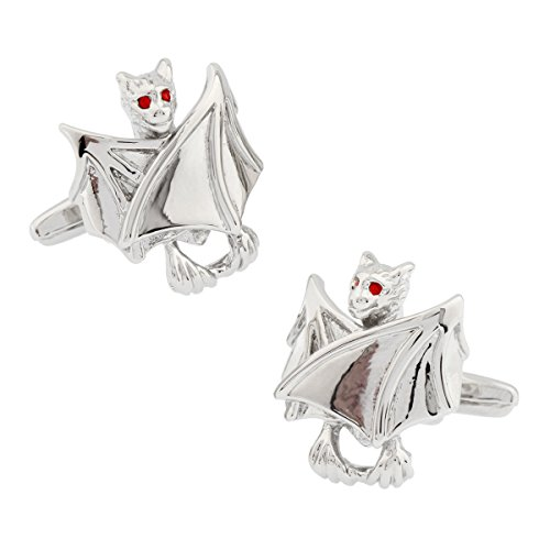 MRCUFF Bat Halloween Vampire Pair Cufflinks in a Presentation Gift Box & Polishing -