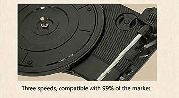 RAPLANC El Tocadiscos Bluetooth Retro de 3 velocidades, es una ...