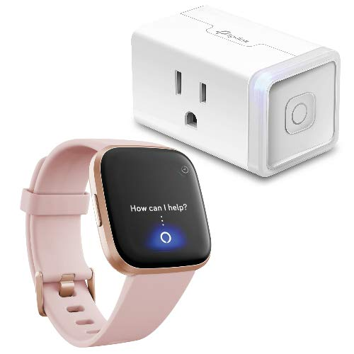 Bundle with TP-Link HS105 Smart Plug Fitbit Versa 2 Health /& Fitness Smartwatch Alexa Built-in