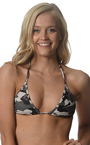 Sheridyn Swim Women's Brazilian Bikini Top Camouflage Medium