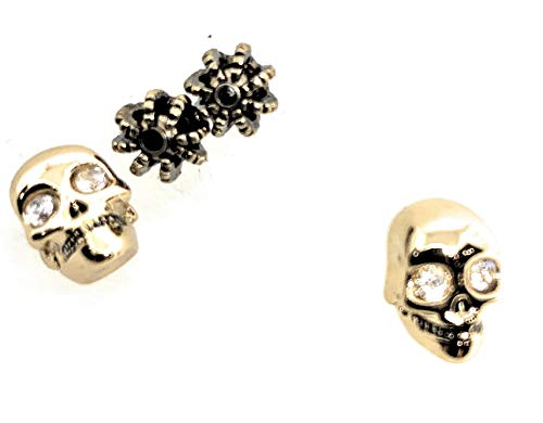 Juicy Couture Skull Stud Earrings - Goldplated (Juicy Couture Ring Set)