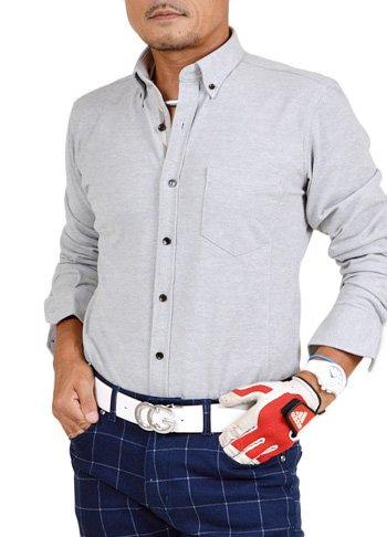 【コモンゴルフ】 COMON GOLF クールマックス素材 前開き 長袖 ゴルフ ポロシャツ GW-P3671