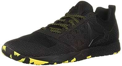 Reebok Women's Crossfit Nano 6.0 Cvrt Cross Trainer, Black/Go Yellow, 5 M US