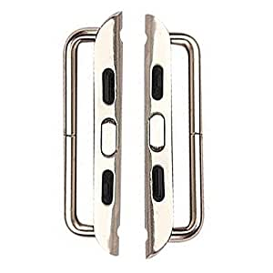 Pack of 2 Pairs - Apple Watch Band Connector Adapter (Silver, 38mm)