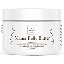 Belly Butter 8oz- Fragrance Free, Decadant Cream Helps Prevent Stretch Marks, Relieves Itching, And Deeply Hydrates Skin During Pregnancy