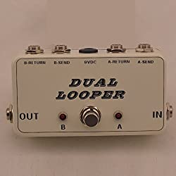 New True-Bypass Looper Effect Pedal Guitar Effect Pedal Looper Switcher true bypass guitar pedal White dual Loop switch from TTONE