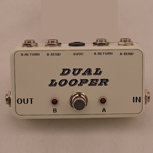 New True-Bypass Looper Effect Pedal Guitar Effect Pedal Looper Switcher true bypass guitar pedal White dual Loop switch by TTONE