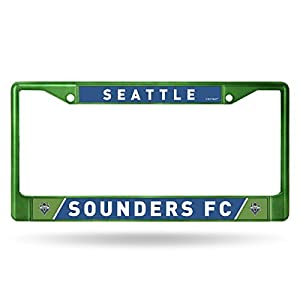 MLS Seattle Sounders FC Colored Chrome Plate Frame, Green, 12-inch by 6-inch