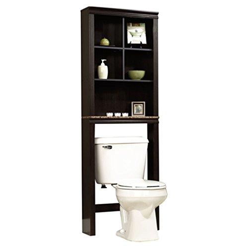 sauder peppercorn etagere bath cabinet  cinnamon cherry finish Bathroom White Towers Bathroom White Towers