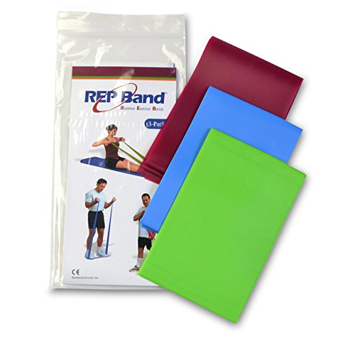 Exercise Band Kits - Rep Band 3-Pack - Non-Latex - Heavy Res