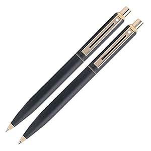 Sheaffer Sentinel - Bolígrafo y portaminas, acabado dorado, color negro