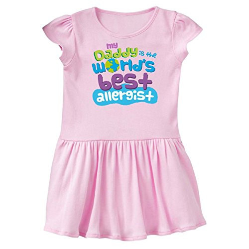 inktastic My Daddy Is The Worlds Best Infant Dress 6 Months Pink 25045