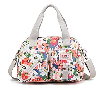 Amazon.com: New 8 Color Fashion Women Handbag Printed ...