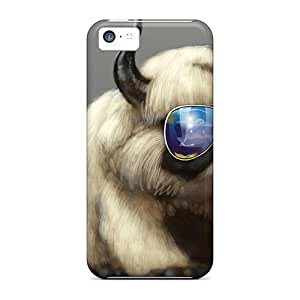 Defender Case For Iphone 5c, Cool Cat Or Dog Pattern