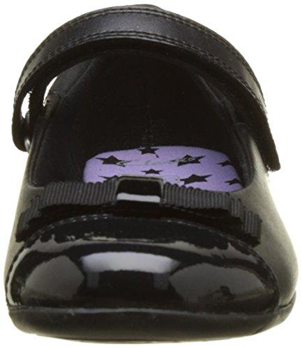 Clarks Danceshout Jnr, Bailarinas para Niñas Negro (Black Leather)