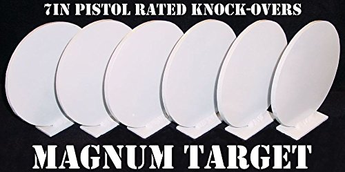 Steel Shooting Targets - 7 Inch Round Knockovers - NRA Action Pistol Plates (Heavy Duty Knockdown Steel)