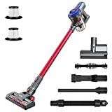 BEAUDENS B6 Cordless Vacuum Cleaner 16Kpa 160W, Brushless Motor, More than 5 Years Life, with 4 Stages Filtration, 2 Motorized Brushes for Carpet Hard Floor Car Pet Hair Bed