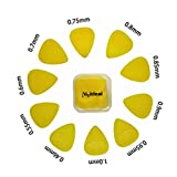 JYFY Meideal Guitar Picks Plectrums Plastic Non Slip 10pcs Multi Size for Acoustic Electric Guitar Bass (yellow)
