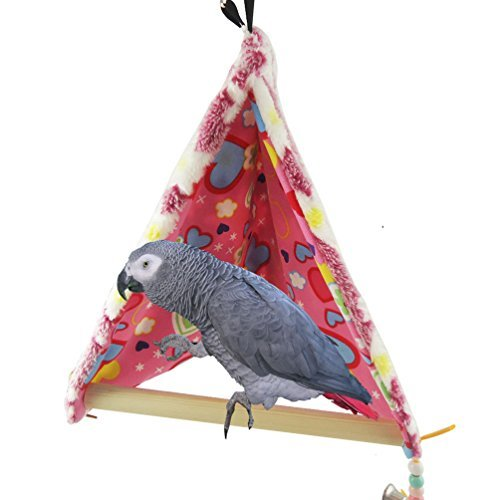 Winter Warm Bird House Bed Perch for Parrot Macaw African Grey Amazon Parakeet Cockatiels Cockatoo Conure Lovebird Cage Swing Toy ()