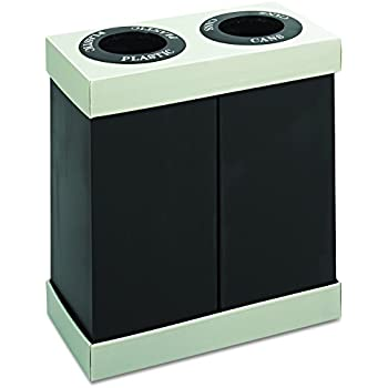 Safco Products 9794BL At Your Disposal Waste Recycling Center, Two 28 Gallon